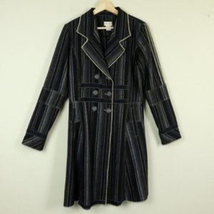 Neesh by DAR Striped Double Breasted Jacket